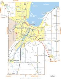 Wisconsin Counties Map by Brown County Wisconsin Map