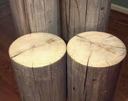 tree trunk bedside table tree stump table etsy