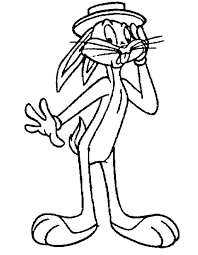 bugs bunny feel coloring pages looney tunes cartoon