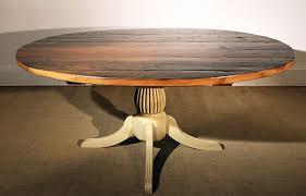 Rustic Oval Dining Table 72in Reclaimed Barn Wood Oval Table Ipswich Pedestal Hazelnut