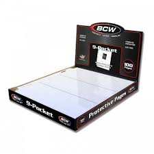 1000 pocket photo album of 1000 bcw pro 9 pocket baseball trading card album pages