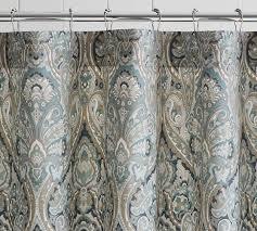 Shower Curtains For Blue Bathroom Mackenna Shower Curtain Pottery Barn