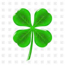 green clover leaf irish shamrock icon vector clipart image