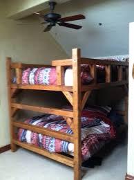 Custom Bunk Beds Custom Queen Bunk Neds Colorado Made Rustic Log Timber