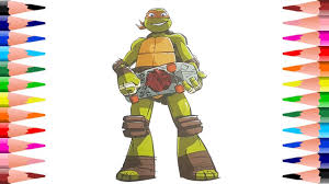painting ninja turtles michelangelo coloring pages colroing
