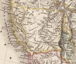 Map Of Nevada And Surrounding States When Two States California And Deseret Laid Claim To Los Angeles