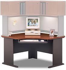 Bush Corner Desks Wc90466a Corner Desk Advantage Series Cherry Collection