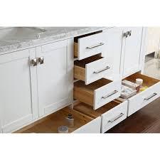 Real Wood Vanities Buy Vincent 72 Inch Solid Wood Double Bathroom Vanity In White Hm