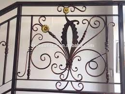 Banisters Flowers Used Wrought Iron Stair Railing Indoor Handrail Flowers