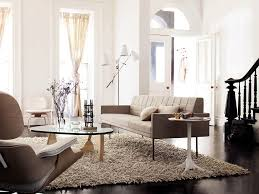 BassamFellows Tuxedo Sofa Nelson Pedestal Table Noguchi Coffee - Design within reach eames chair