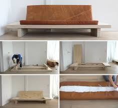 Wood And Leather Sofa Learn How To Create Your Own Diy Modern Wood Couch With Leather