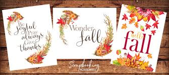 the scrapbooking free fall thanksgiving wall printables