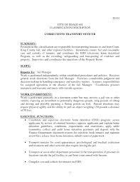 General Job Resume by Sample Resume For Correctional Officer Resume For Your Job