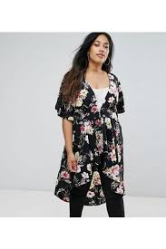 new look plus size floral women u0027s dresses compare prices and buy