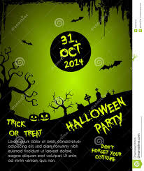 halloween party flyer template green and black stock vector