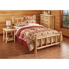 log bedroom furniture castlecreek cedar log bed 235869 bedroom sets at