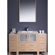 fresca torino 54 single modern bathroom vanity set with mirror
