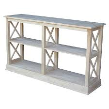international concepts console table hton sofa server table with shelves international concepts