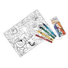 jungle lion u0027 colour sheets u0026 crayons colpac