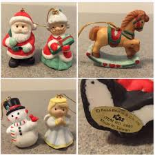 vintage set of 5 russ berrie miniature ornaments