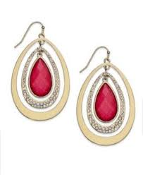 concepts earrings inc international concepts earrings 12k gold plated glass rondelle