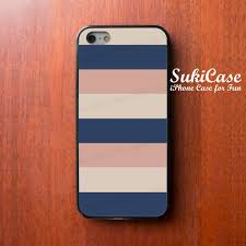 light blue iphone 5c case iphone 5s case navy blue light brown pale pink stipe iphone cases