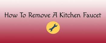 how to remove a kitchen faucet jpg