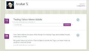 Yahoo Meme - appatic yahoo meme minimalistic microblogging network