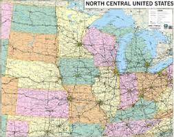 map us states highways themapstore central states central midwest