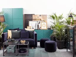 Black Furniture Living Room A Midnight Tropical Paradise In Rich Tones With Brass And