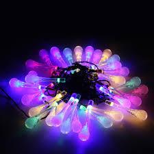 drop down christmas lights diy outdoor string lights led water drop garden snowdrop solar
