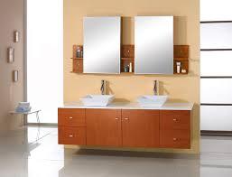 abodo 61 inch modern bathroom vanity honey oak finish