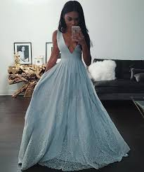 blue prom dress v neck prom dresses charming prom dress party prom