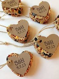 favors for wedding guests 100 bird seed heart shaped favor mini wedding by vintageblooming