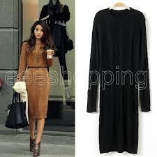 long knitted jumper dress fashion dresses