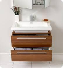 Teak Bathroom Vanity by Fresca Vista Teak Bathroom Vanity And Medicine Cabinet By Fresca