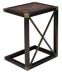 dark wood accent tables wooden c accent table