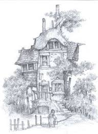 coloring pages houses fairy tree house coloring pages google search free printabels