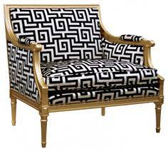 black and white striped chair gonna do one of these too