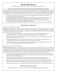Resume Title Samples by Free Mortgage Company Branch Manager Resume Example