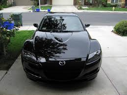 photos with the mazda rx8 in brilliant black color