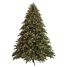 7 5 ft pre lit led natural noble fir artificial christmas tree