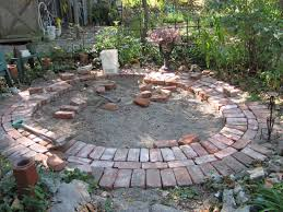 round brick patio patterns design and ideas
