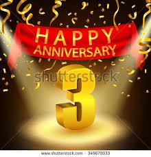 3rd wedding anniversary 3rd anniversary stock images royalty free images vectors