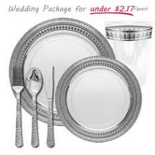 silver wedding plates bulk wedding disposable plastic chagne flutes wine cups
