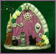 purple witch fairy door fairies pinterest fairy doors