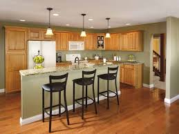 green kitchen paint with oak cabinets pondering how it will look to wood cabinets after