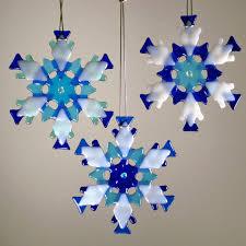 snowflake ornament sun catcher by behrens blue