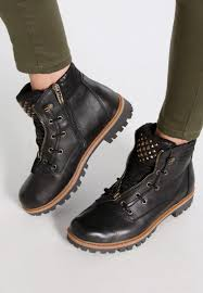 buy boots trendy black color leather boots tamaris tamaris lace up boots black designer fashion ta111n0hg q11