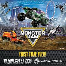 grave digger monster truck poster monster jam smashes its way into singapore for the first time